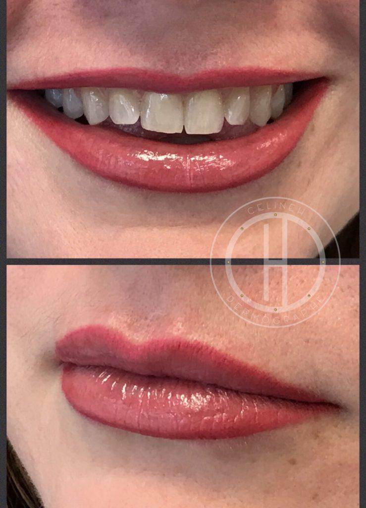 GLAM LIP naturel: bouche complète, sans effet crayon.